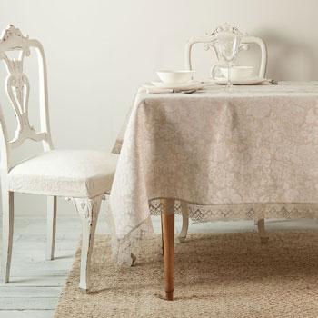El ganchillo y el encaje invaden nuestras mesas blog - Manteles de lino ...