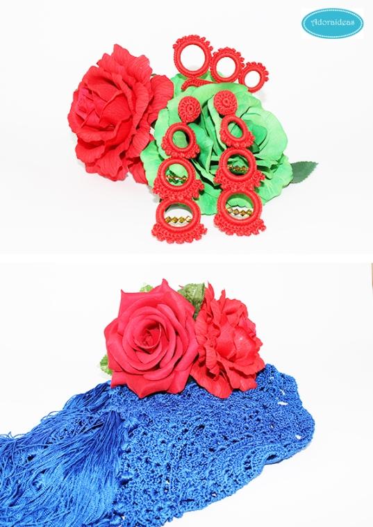 Complementos de flamenca a ganchillo adorables