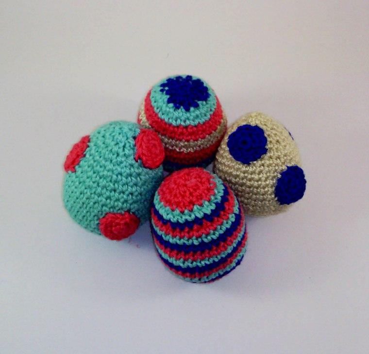 Huevos de Pascua de amigurumi