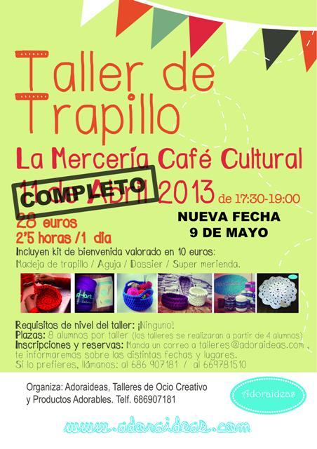 Nueva fecha Taller de Trapillo 9 de mayo