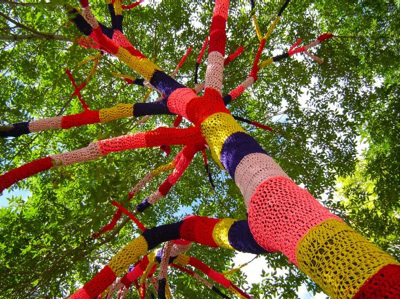 Knit the city en la naturaleza