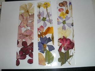 Marca páginas de flores secas por marcapaginasmati