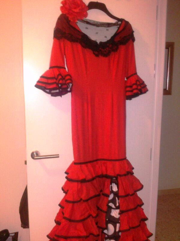Mi traje de flamenca para la Feria de Abril de 2013