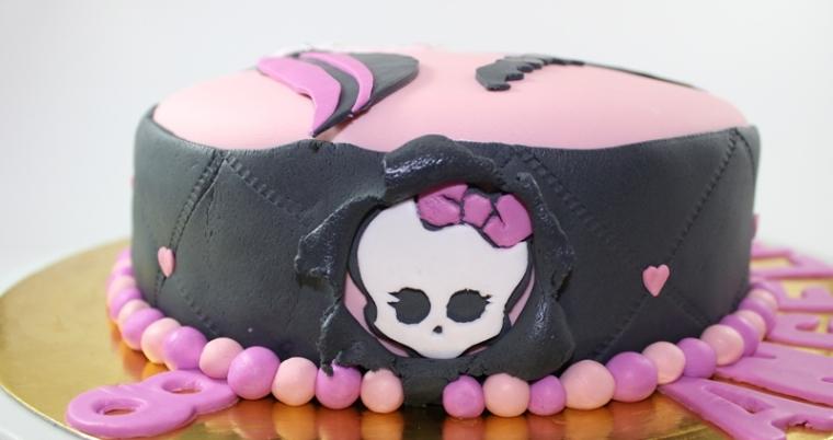 Detalle de la draco-tarta