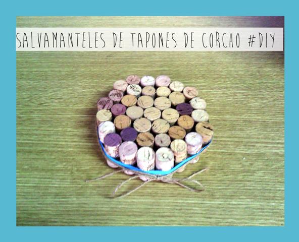 Salvamantel Handmade con tapones de corcho