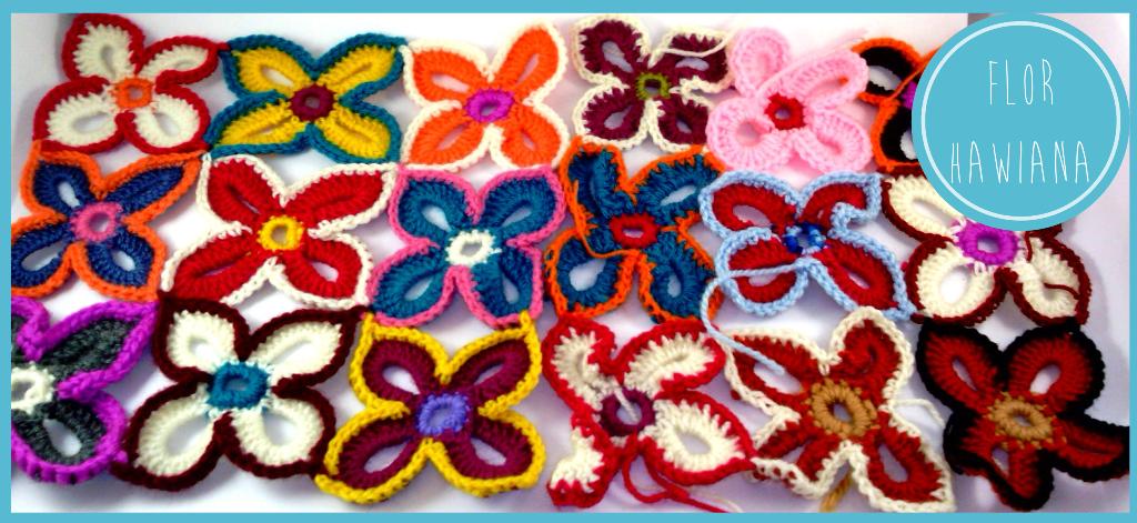 Patrón flor hawaiana ganchillo |