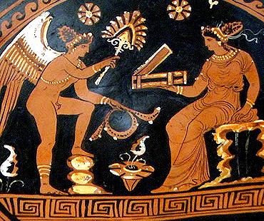 Abanicos en la Antigua Grecia