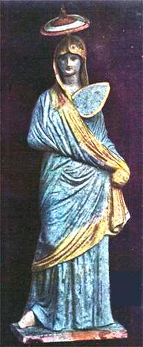 Estatua de la ciuda dde Tanagra, Museo Louvre